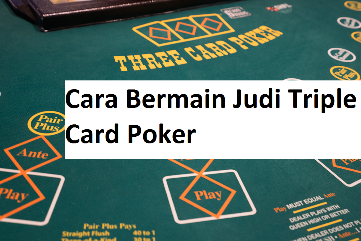 Cara Bermain Judi Triple Card Poker